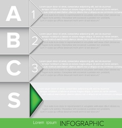 Infographic Green Button vector image vector image