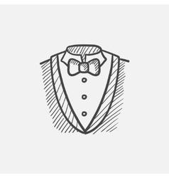 Male suit sketch icon vector image vector image
