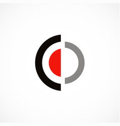 round target shape logo vector image vector image