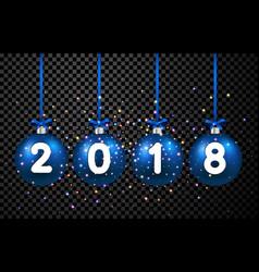 2018 new year christmas balls vector