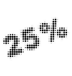 25 percents halftone dotted icon vector image