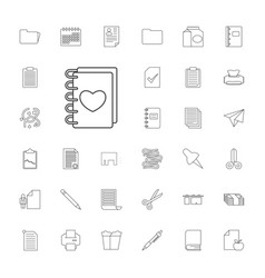 33 paper icons vector