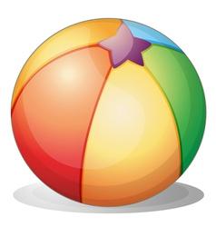 A beach ball vector image