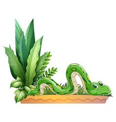 A green snake vector image