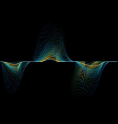 Abstract sound wave background vector