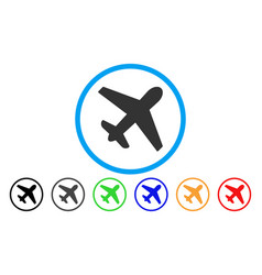 airplane rounded icon vector image