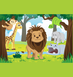 animal kingdom vector image