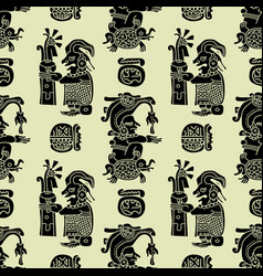background seamless pattern in maya style vector image