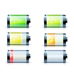 battery level indicators vector image