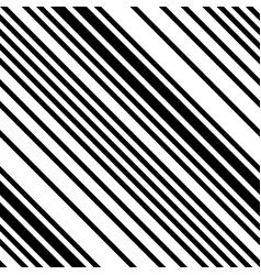 Black and white diagonal striped seamless pattern vector