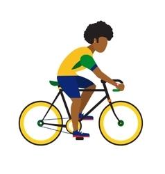 black man ride road bicycle cycling sport vector image