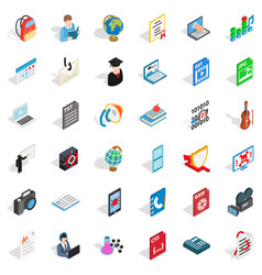 Bomb in computer icons set isometric style vector