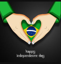 brazil independence day background vector image