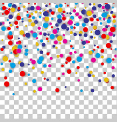 bright colorful confetti background vector image