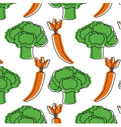 Broccoli and carrot desig vector