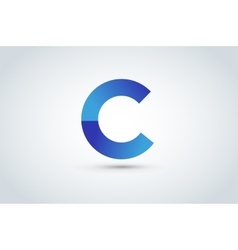 C letter icon template vector image