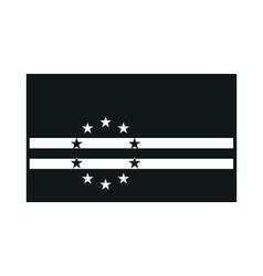 Cape Verde flag monochrome on white background vector