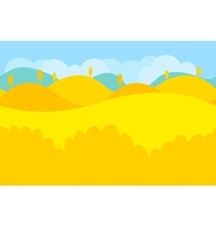 Cartoon Landscape of Yellow Desert and Trees for vector image