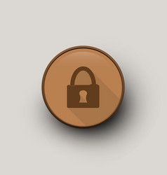 circle with lock vector image