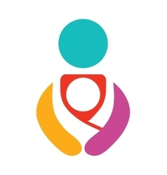 Colofrul Babywearing Symbol With Parent vector