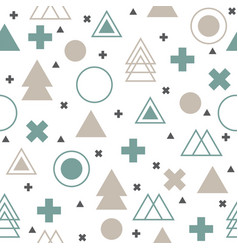 Colorful geometric seamless pattern abstract vector