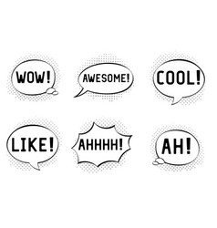 comic book shout outs in speech bubbles vector image