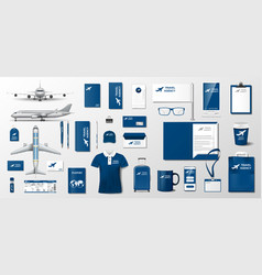 corporate branding identity template design vector image