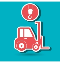 crane service design vector image