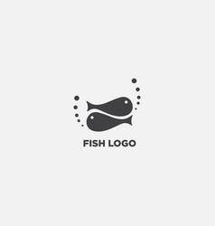 Creative fish logo design template vector