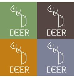 Deer monogram vector