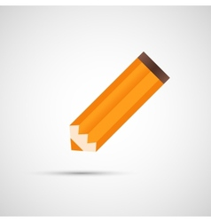 Design pencil with shadow eps vector image