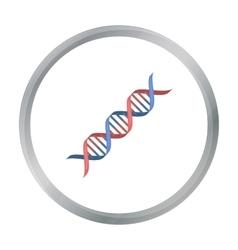 DNA code icon cartoon Single medicine icon from vector