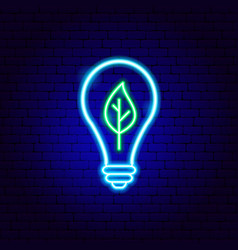 eco electric lamp neon sign vector image