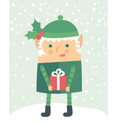 elf cartoon vector image