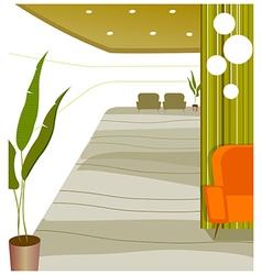 Empty modern lobby vector