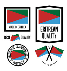eritrea quality label set for goods vector image