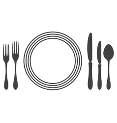 Etiquette Proper Table Setting vector image  sc 1 st  VectorStock & Etiquette Proper Table Setting Royalty Free Vector Image