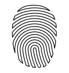 fingerprint icon black color flat style simple vector image
