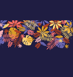 flat colorful fall leaves element vector image