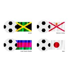 Football of Jamaica Bailiwick of Jersey Kuban vector image