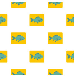 fresh raw fish pattern flat vector image vector image