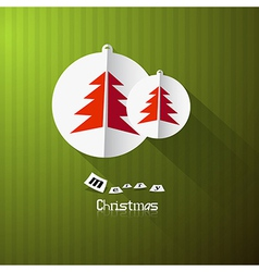 Green Retro Abstract Merry Christmas Background vector image
