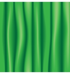 Green silk drapery textile background vector image