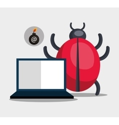 Laptop computer and informatic virus vector