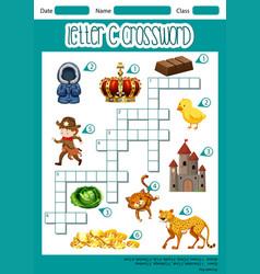 Letter c crossword template vector