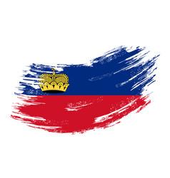 Liechtenstein flag grunge brush background vector