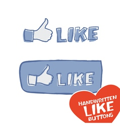 Like button mini set vector