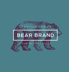 logotype bear vector image