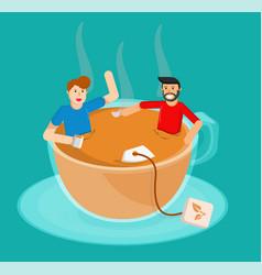 meeting tea vector image
