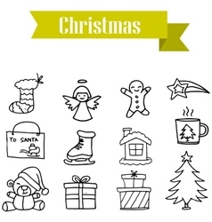 Merry Christmas set element vector